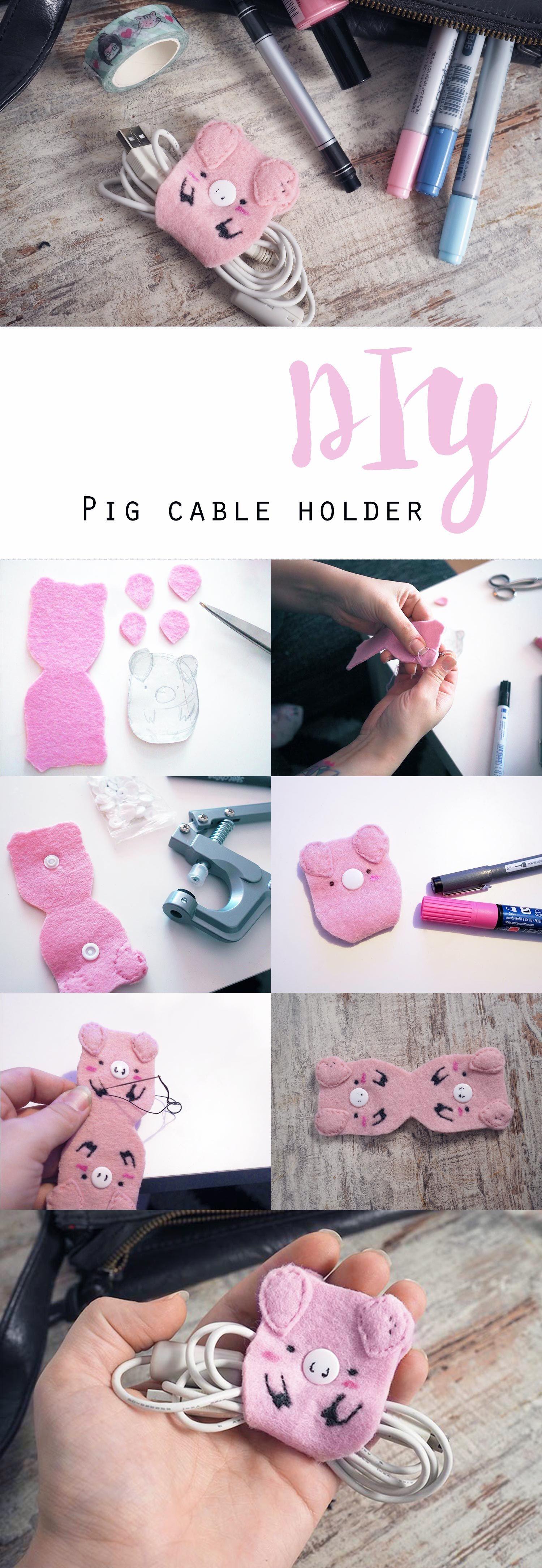 DIY ~ Schweine-Kabelhalter | Pinterest | Kopfhörer, Kabel und Halter