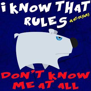 Mijn T-shirt-prints: Rules Don't Know Me