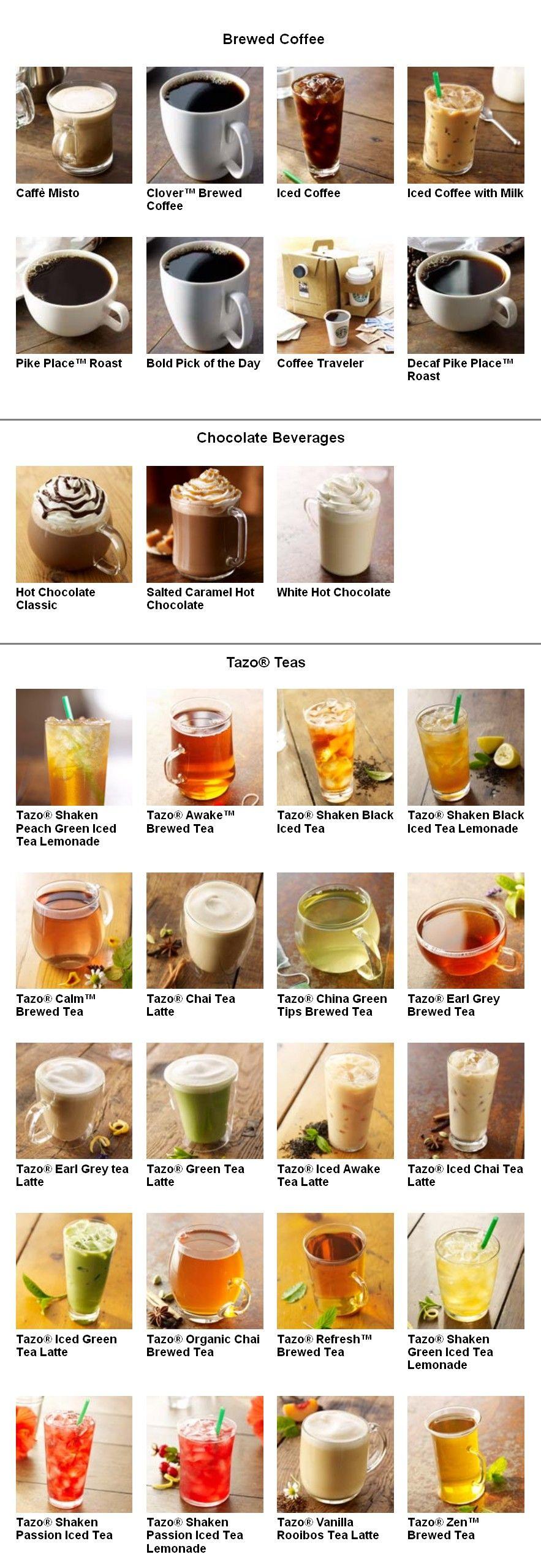 2 Starbucks Drink Menu Caffeine Addiction