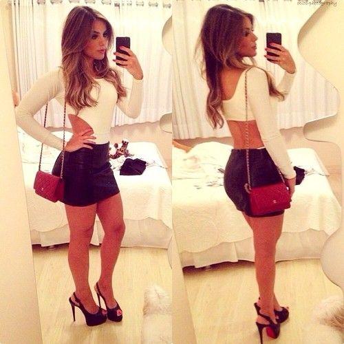 ba42942483a The Fashion: Gorgeous dress black fur Summer outfits Teen fashion Cute Dress!  Clothes Casual