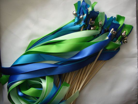 Exit Ribbon Streamers With Bells Time To Get My Gluegun Heated Up Wand WoodsWedding WandsDiy