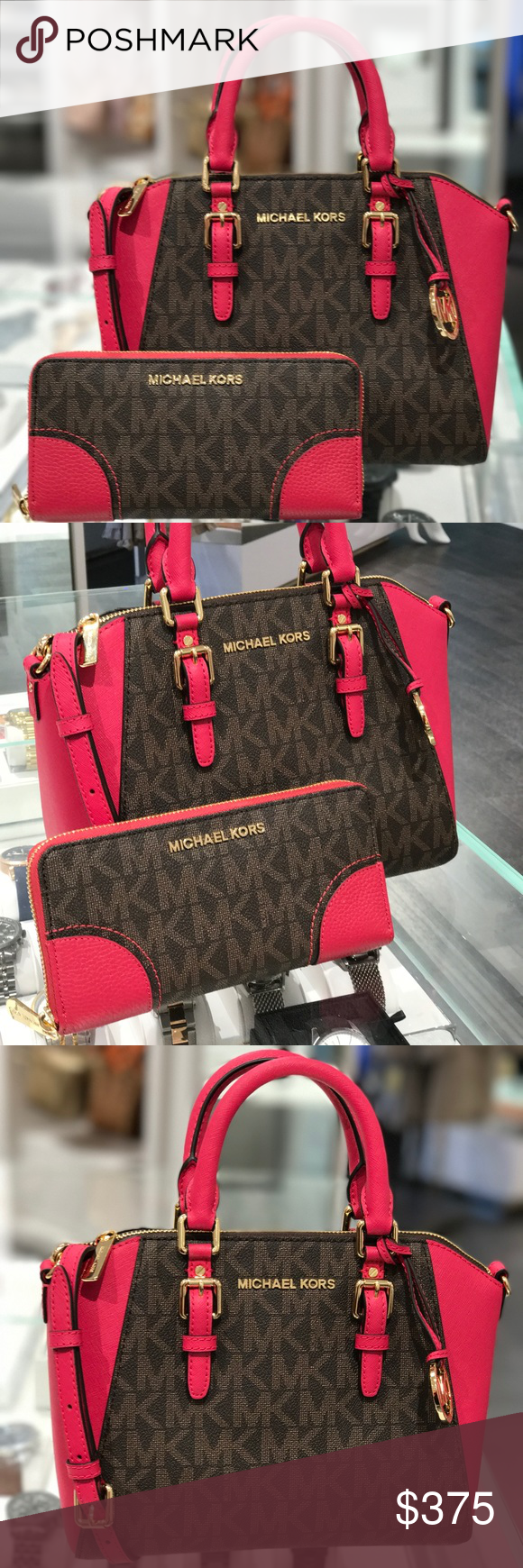 2358dd2b15edde Spotted while shopping on Poshmark: Michael Kors medium Ciara bag  withmatching wallet! #poshmark #fashion #shopping #style #Michael Kors  #Handbags