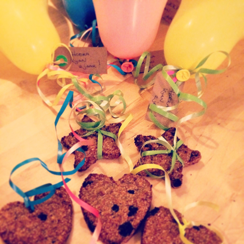 Havermout,banaan, kokos, kaneel en rozijnen koekjes # gezondtrakteren Leuk!!
