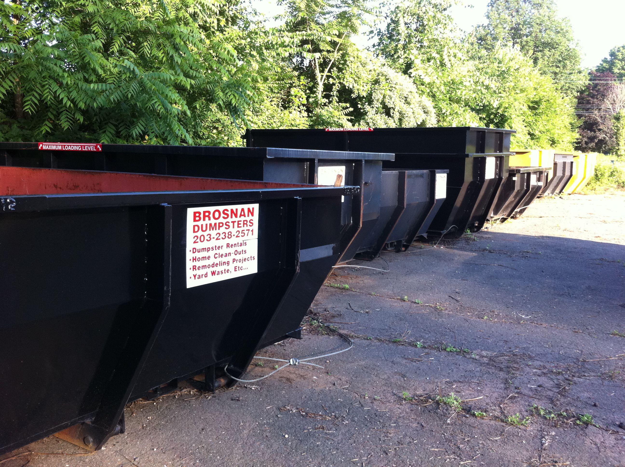 Brosnan dumpsters llc serving the meriden area we offer