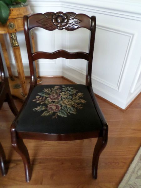 Tell City Chairs Pattern 4526 White Chair Dining Table Mahogany Duncan Phyfe Side