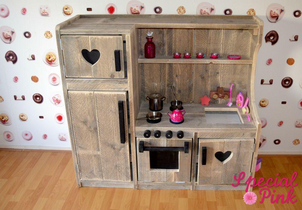 Keuken Kinderen Houten : Kinderkeuken nienke van steigerhout kinderen