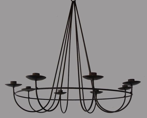 Wrought Iron Chandelier Could Use Something Like This To Hang