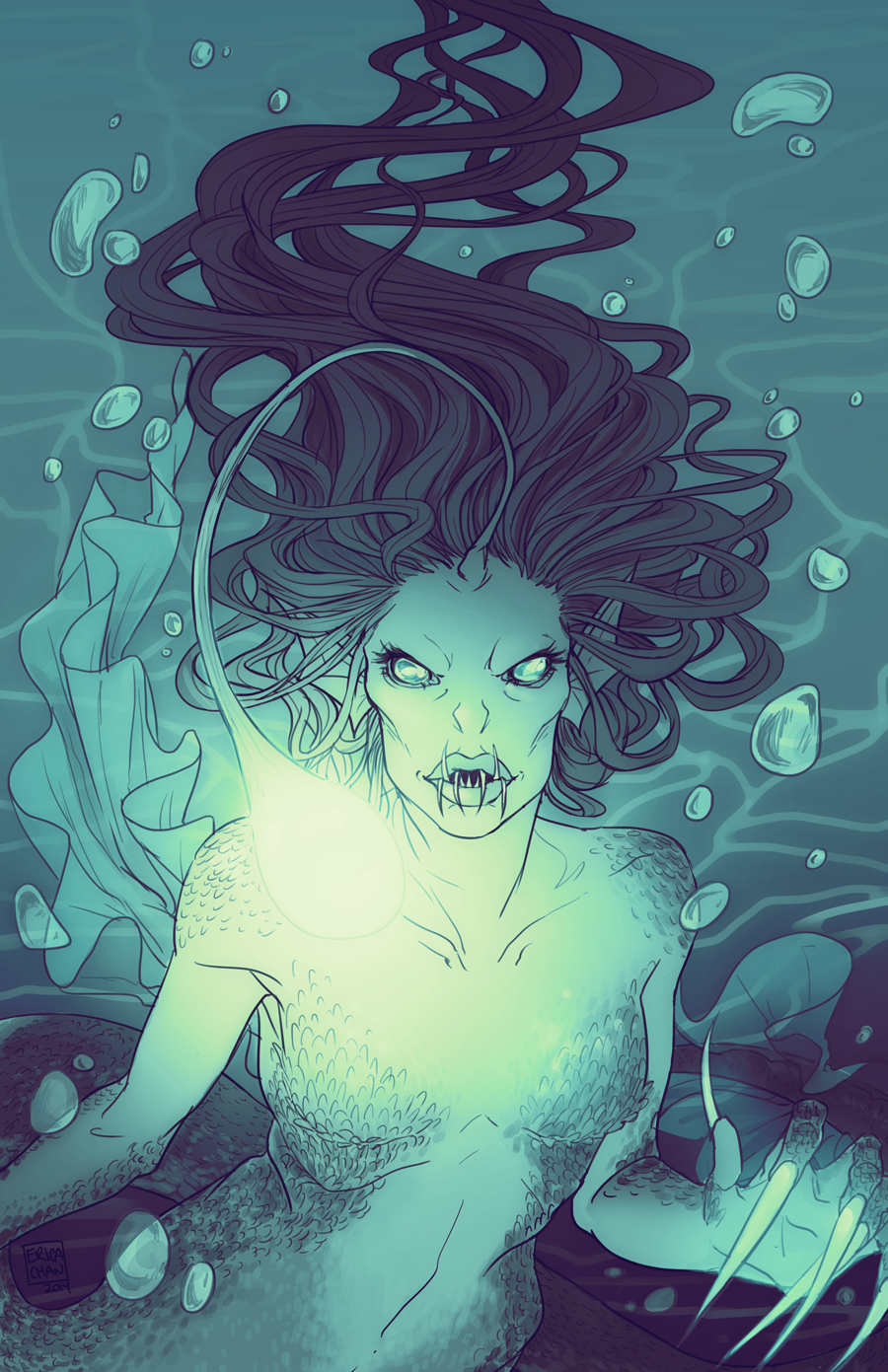 Pin by K Cali on Anglerfish | Pinterest | Mermaid, Scary and Merfolk