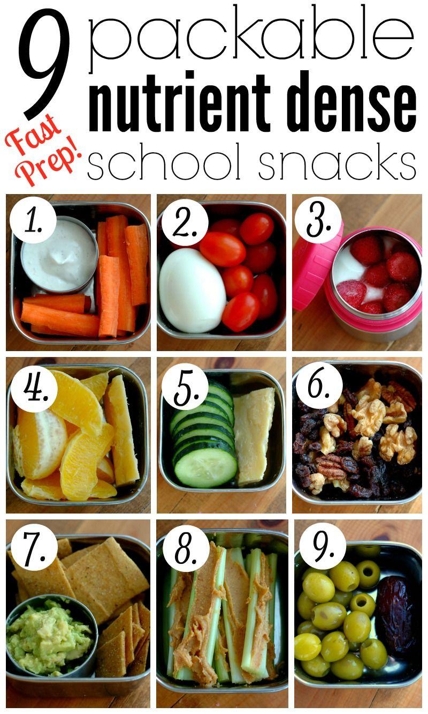 9 Packable Nutrient Dense School Snacks Healthy snacks