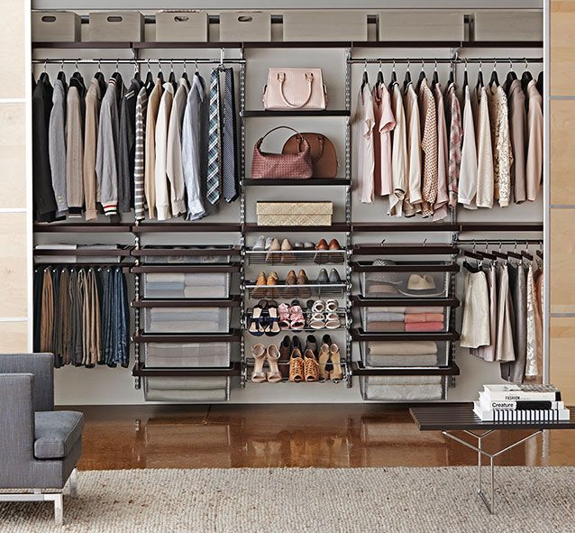 Elfa Shelving System | The Container Store Elfa Closet System, Closet  Storage Systems, Closet