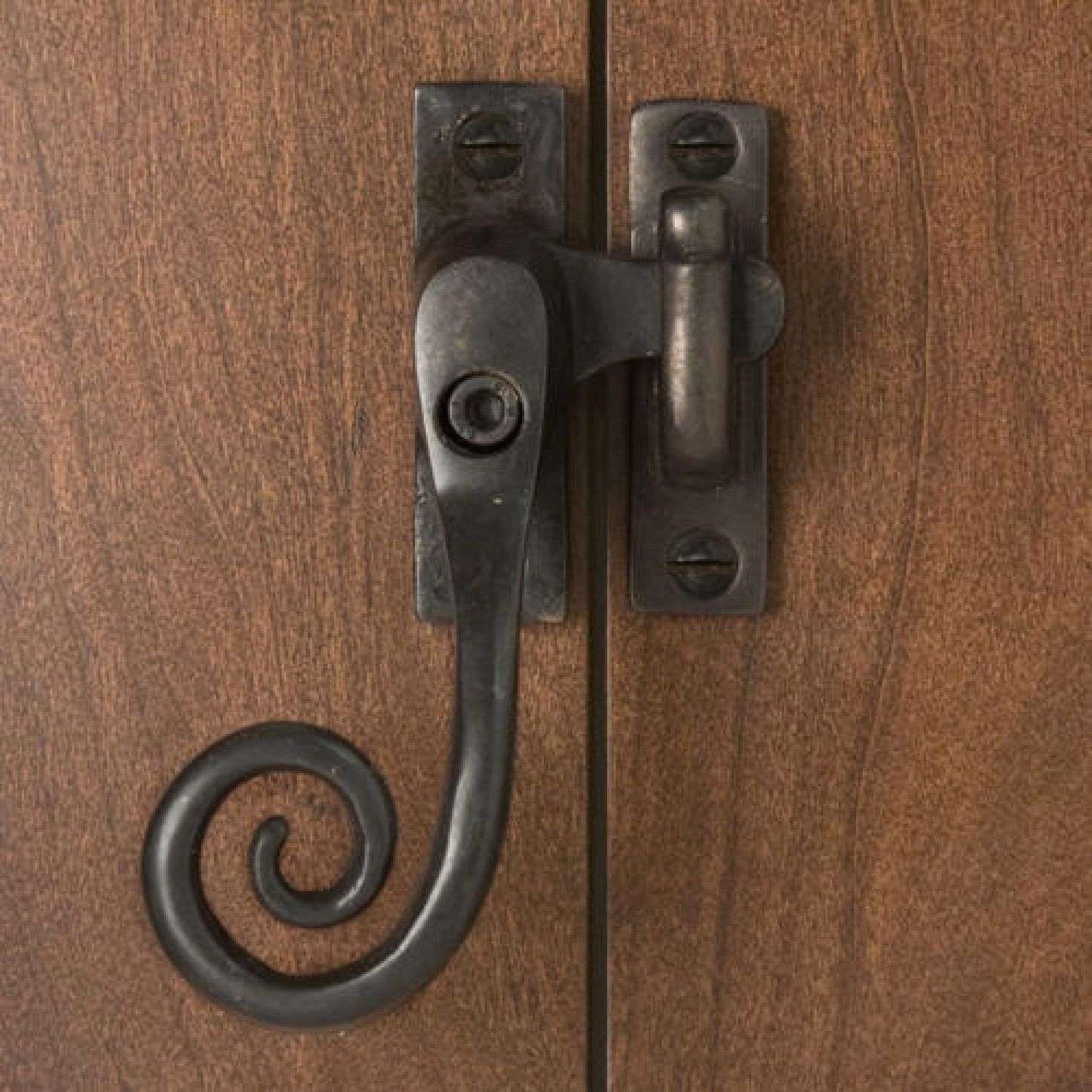 Solid Bronze Curly Casement Window Latch - Hardware & Solid Bronze Curly Casement Window Latch | Hardware Window and ...