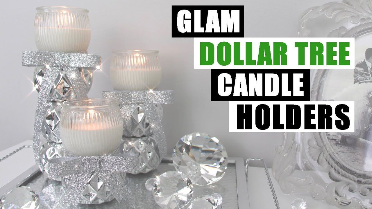Glam Diy Dollar Tree Candle Holders Bling Home Decor