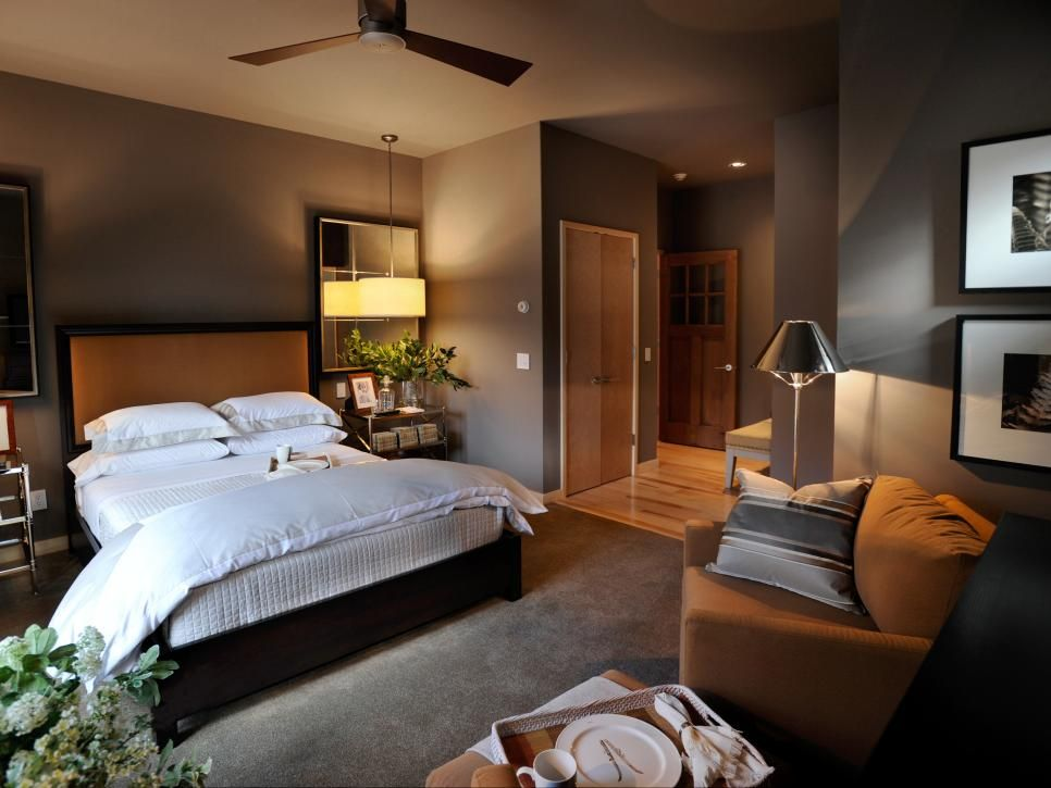 Pictures of Bedroom Wall Color Ideas From HGTV Remodels   Brown ...