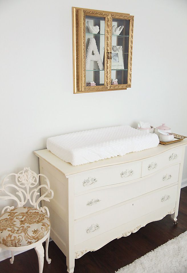 Sweet A\'s Antique French Inspired Nursery | Refurbished dressers ...