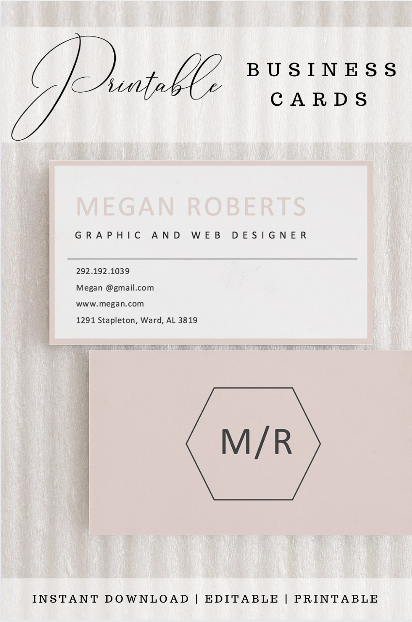 Custom Business Cards For You To Download And Print Instantly Modern Business Cards Custom Business Cards Business Card Design