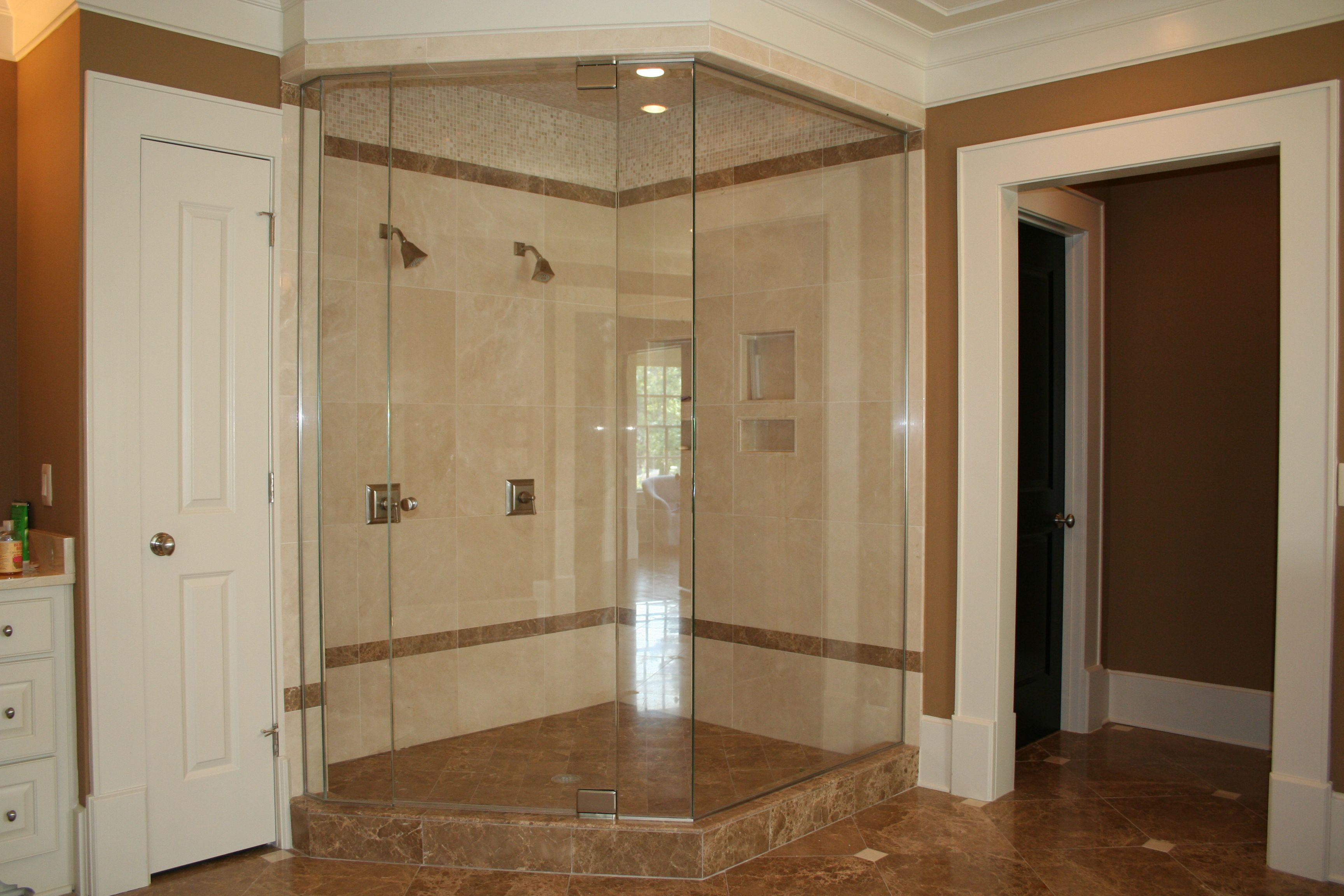 Cozy Bathroom With Delightful Neo Angle Shower: Neo Angle Shower ...