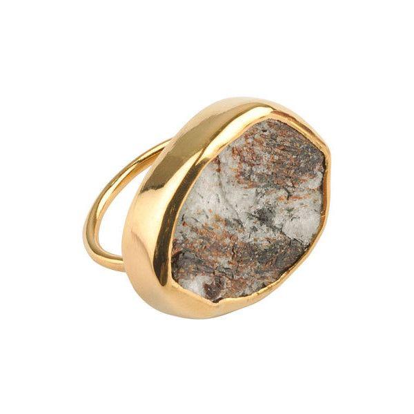 SuShilla Star leaf Tallulah Ring ($320) found on Polyvore