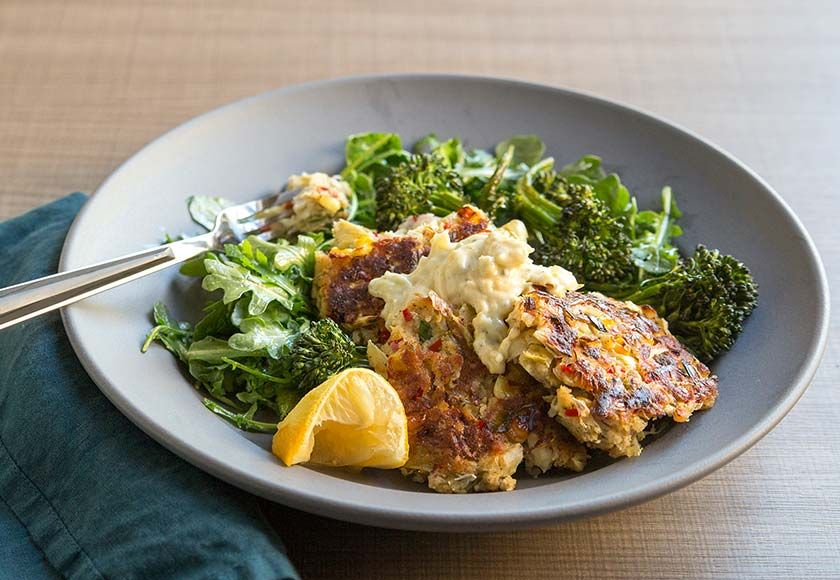 Artichoke crab cakes flavorful recipes green chef