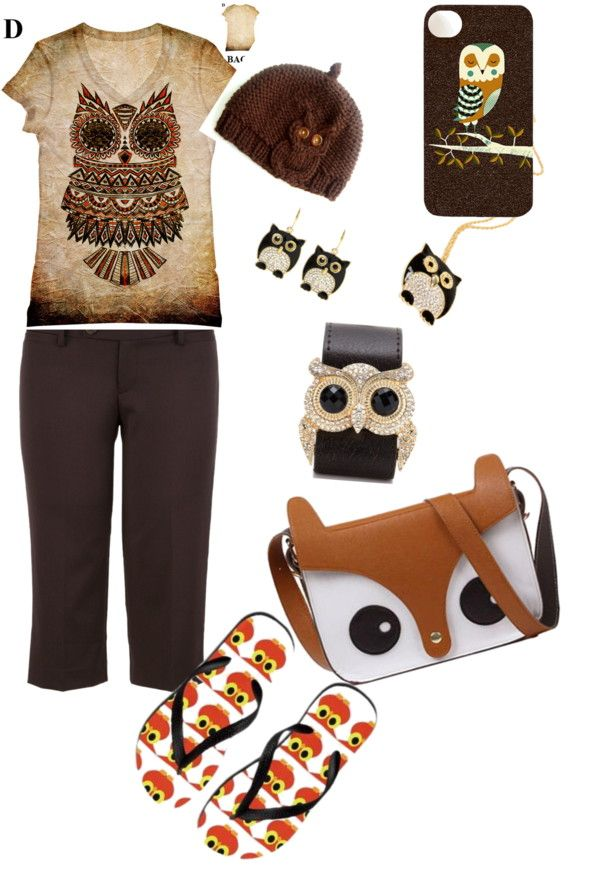 """All about the owl"" by michele-kannberg-mitchell on Polyvore"