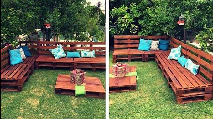 comment faire un salon de jardin sur roulettes avec des palettes en bois projets essayer. Black Bedroom Furniture Sets. Home Design Ideas