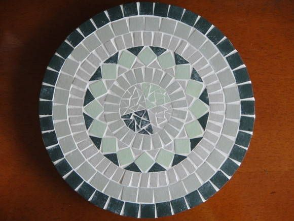 Bandeja Giratoria 43cm De Diametro Mosaico Azulejo Rustico