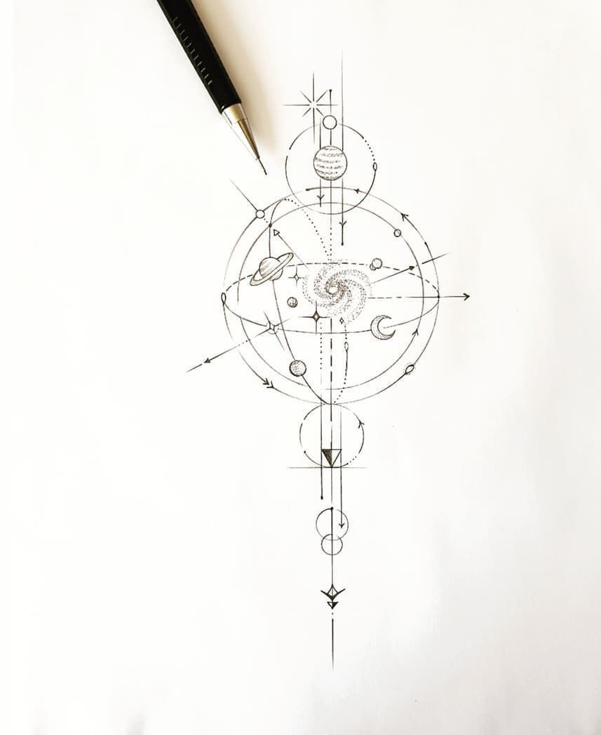 Photo of Tatouage de géométrie de tatouage Constellation Tattoistnaru Tatouage Moshoujo…