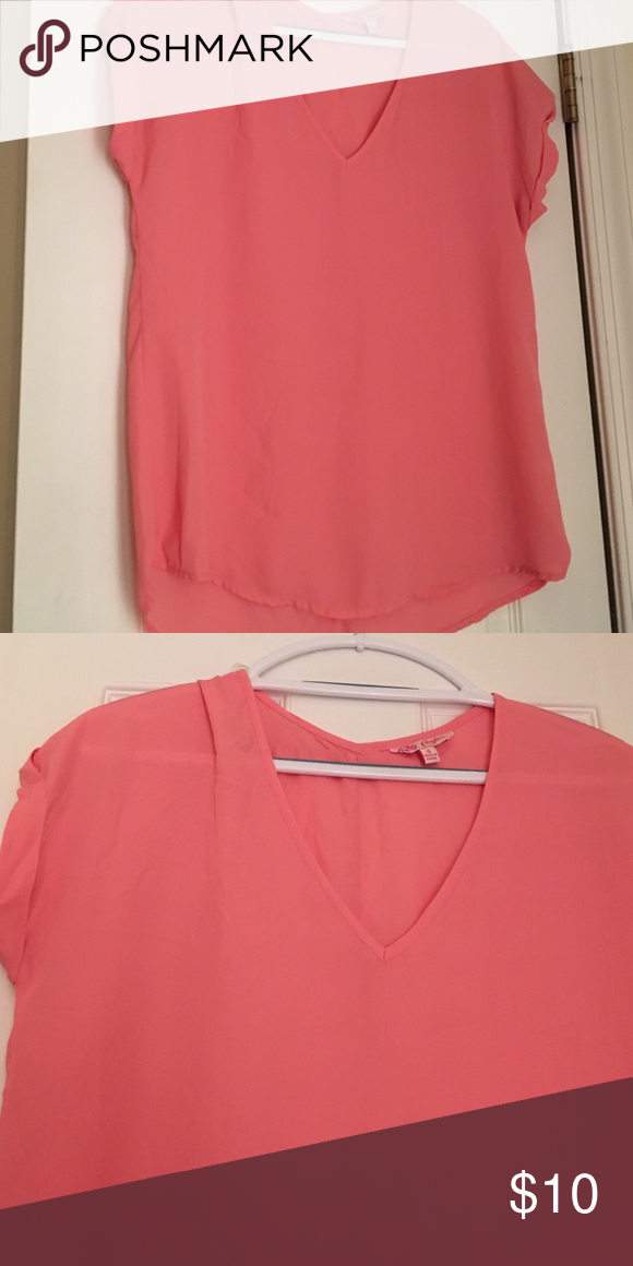 Light pink blouse Light pink blouse. Flows well. Light material Candie's Tops Blouses