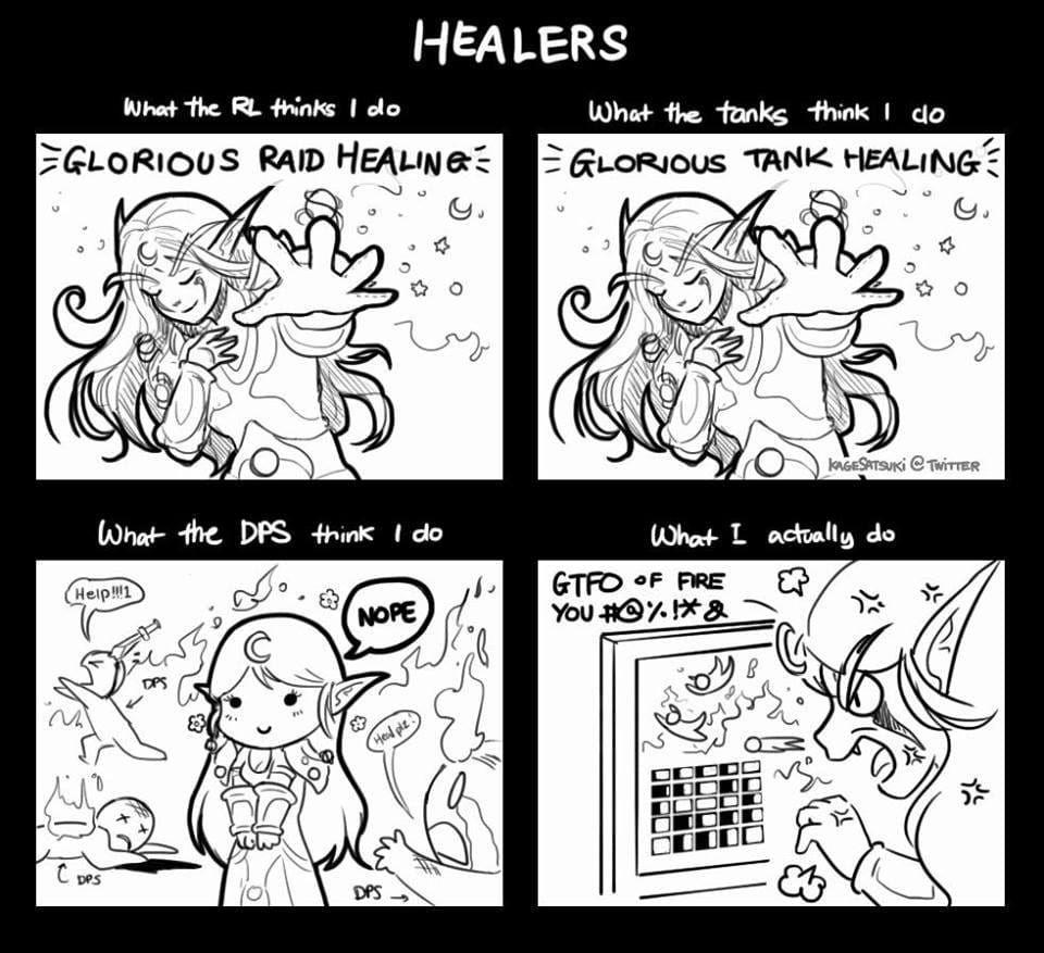 Healer Problems Warcraft World Of Warcraft Healer
