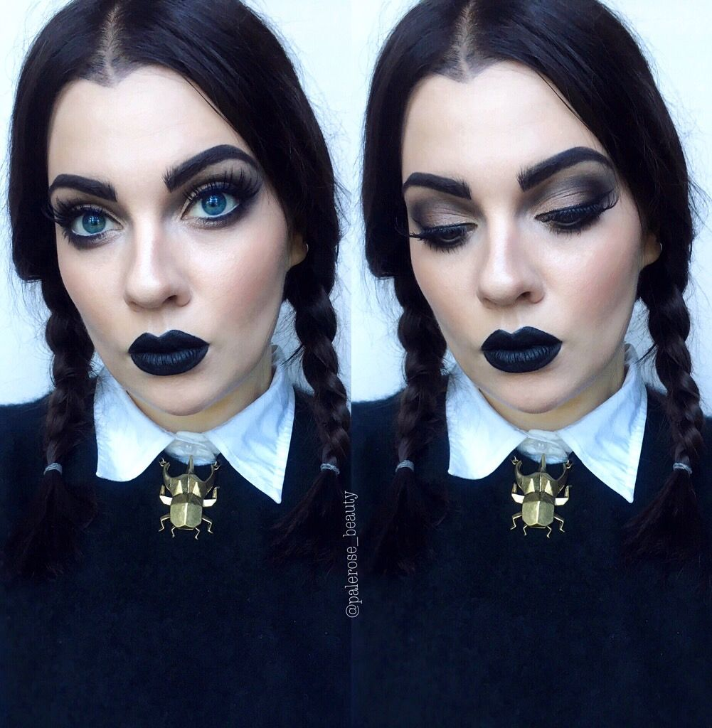 wednesday addams halloween makeup makeup kost m. Black Bedroom Furniture Sets. Home Design Ideas