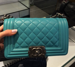 13629f0f77a3 Chanel Turquoise Boy Chanel Flap Mini Bag | drool | Chanel, Bags ...