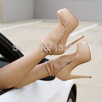 font-b-Cute-b-font-font-b-Heels-b-font-For-Cheap-Nude-Pointed-Toe ...