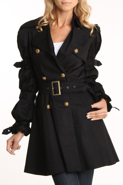 Ariella Funky Style Coat In Black  c43b66397f