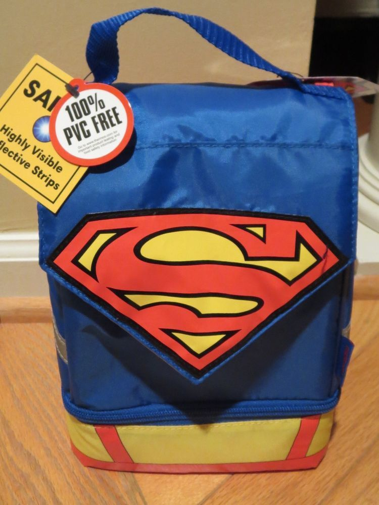 39cb55c6a4a15a Superman Lunch Bag Box Dual Compartment Lunch kit with Cape NEW THERMOS # Thermos #LunchBag #Lunch