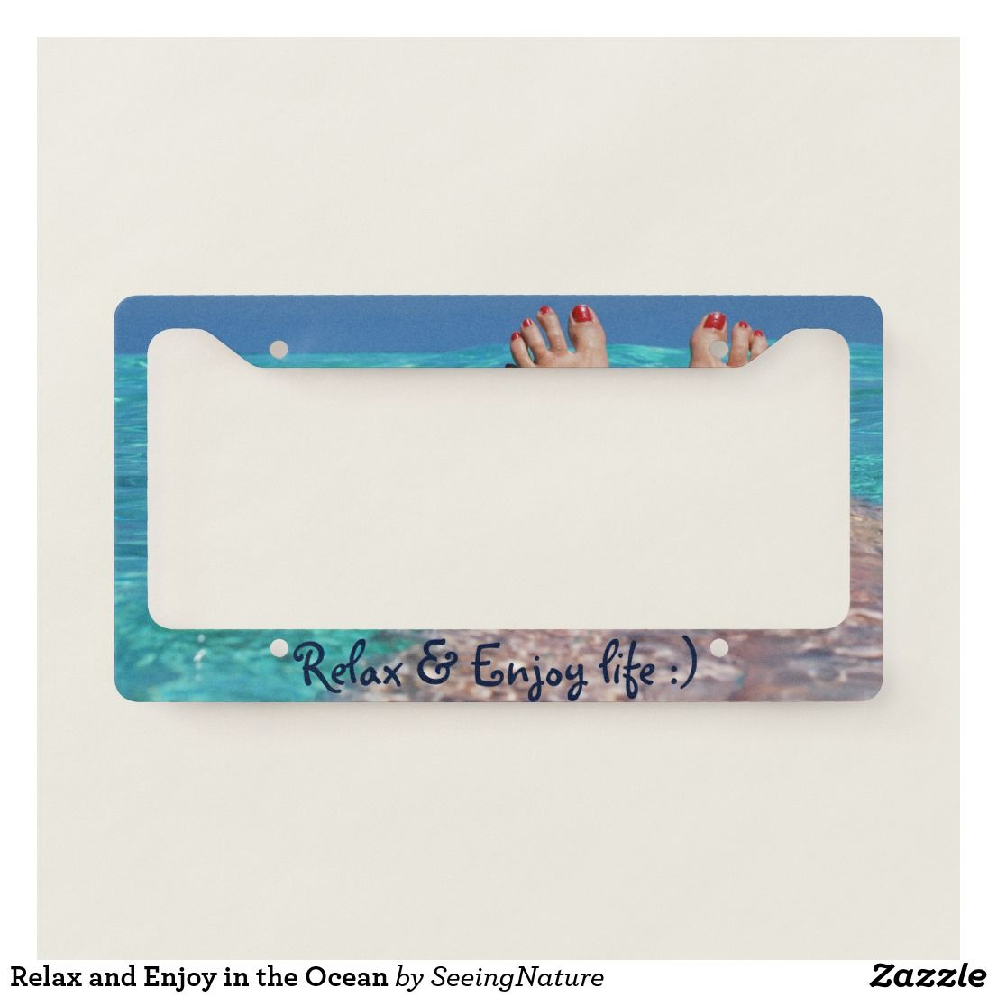 Relax And Enjoy In The Ocean License Plate Frame Zazzle