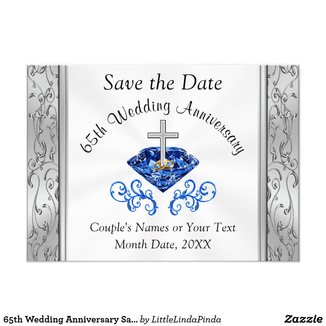 65th Wedding Anniversary Save the Date Cards in 2020