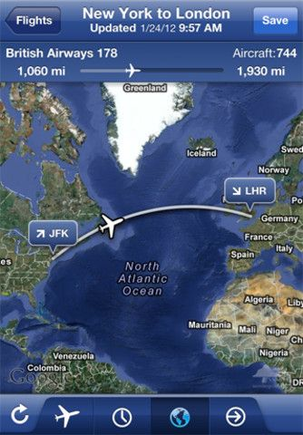 FlightTrack Pro u2013 Live Flight Status Tracker by Mobiata iPhone and - new apple app world map