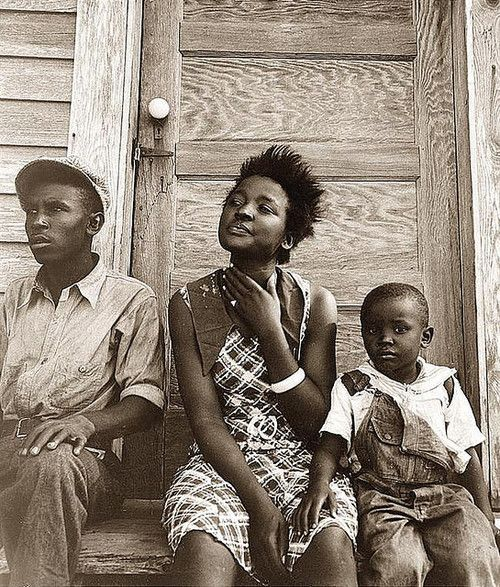 Dorothea Lange Photo Of Negroes Under The National Youth