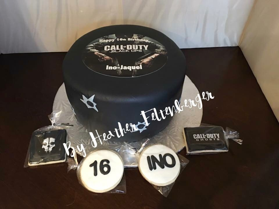 Call Of Duty Black Ops Birthday Cake And Cookies My Cakes