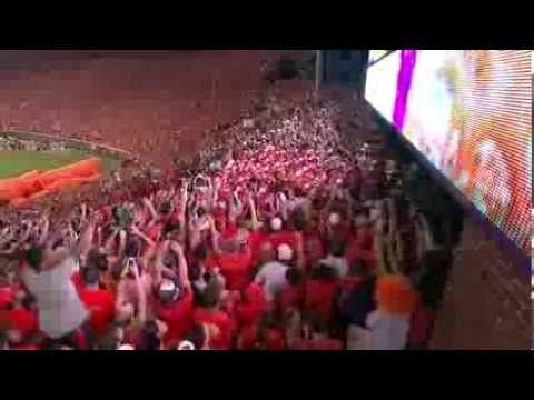 ▶ Clemson's Dramatic Stadium Entrance Will Give You CHILLS - AMAZING 09....