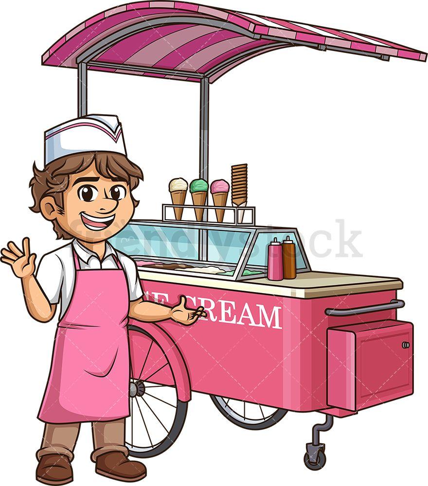 Happy Ice Cream Man Ice cream man, Cartoon clip art, Man