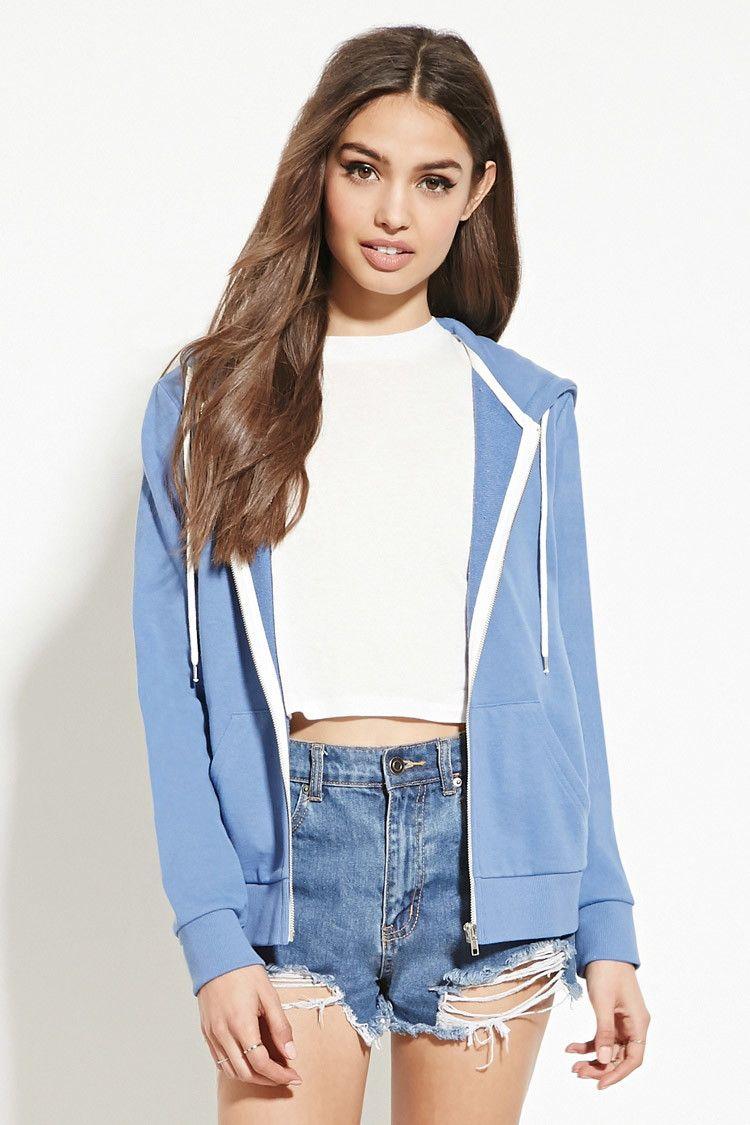 Classic Zip Up Hoodie Forever 21 2000186694 Overalls Women Fashion Hoodie Fashion Sweatshirt Fashion [ 1125 x 750 Pixel ]