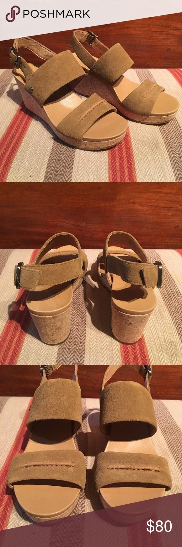 53da66bd21d UGG Shoes | Ugg Elena Ii Metallic Chestnut Platform Wedge | Color ...
