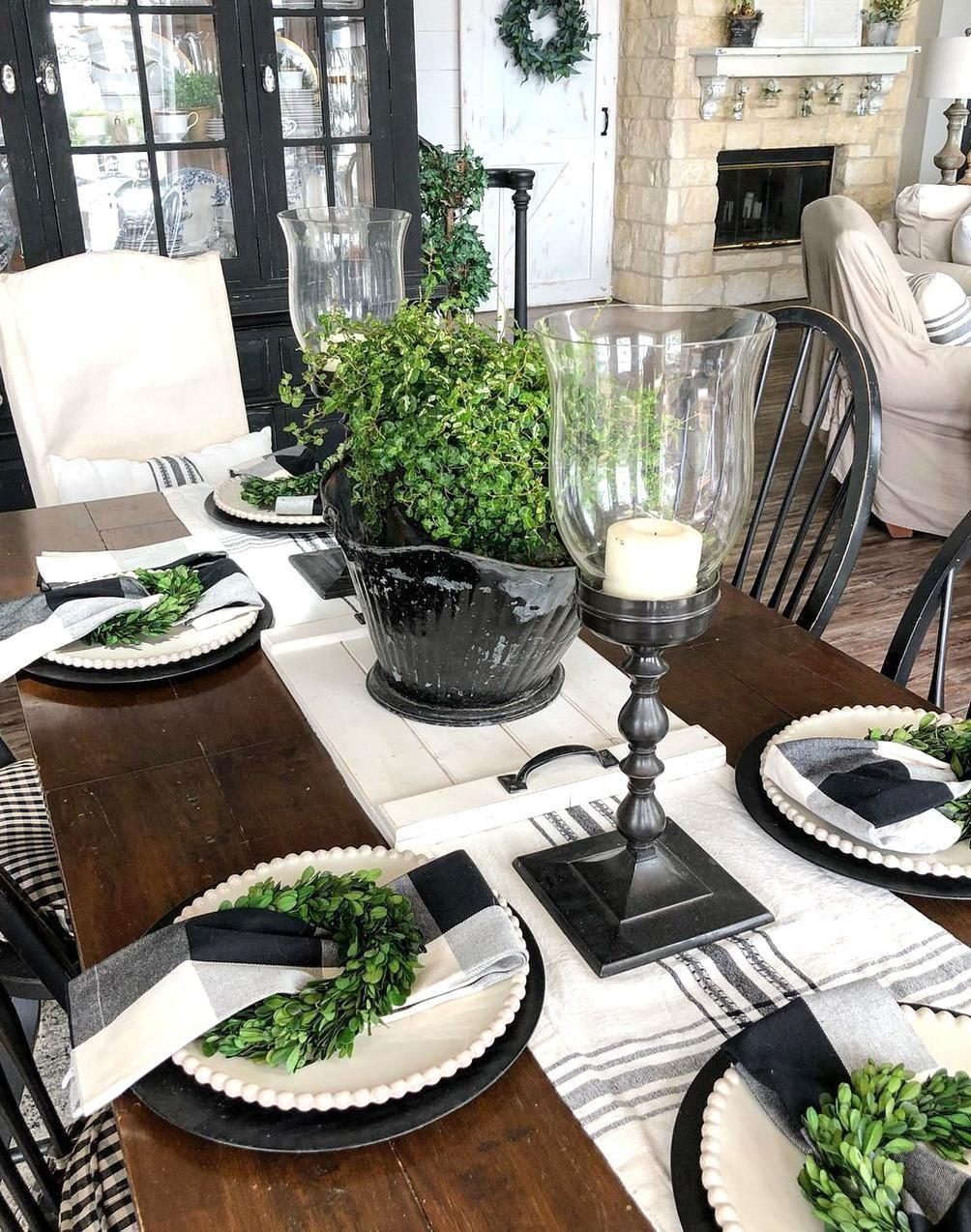 For An Up Anding Gathering Or To Just Put An Extraponent You Can Ap In 2020 Farmhouse Table Centerpieces Dining Table Candle Centerpiece Formal Dining Room Table Decor