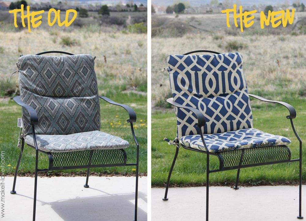 Make Your Own Reversible Patio Chair Cushions Patio Chair