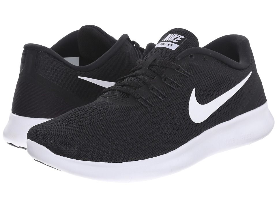 free shipping 78984 d44cc Nike - Free RN (BlackAnthraciteWhite) Womens Running Shoes
