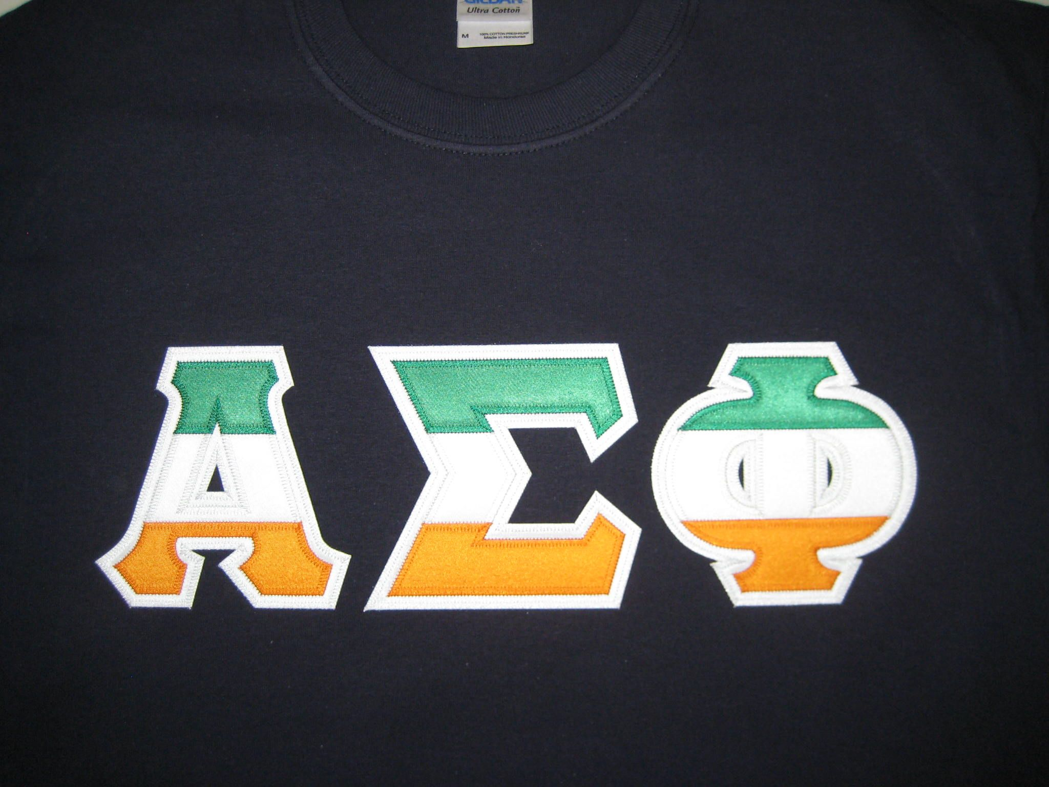 Alpha Sigma Phi IrishStripes custom greek letter shirt