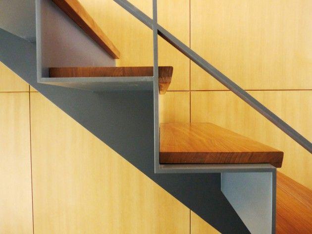Folded Plate Stair Caliper Studio Steel Stairs Design Metal