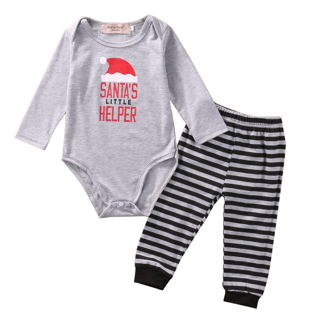 Pcs XMAS Santa set Autumn Winter Newborn Baby Boy Girl Long Sleeve