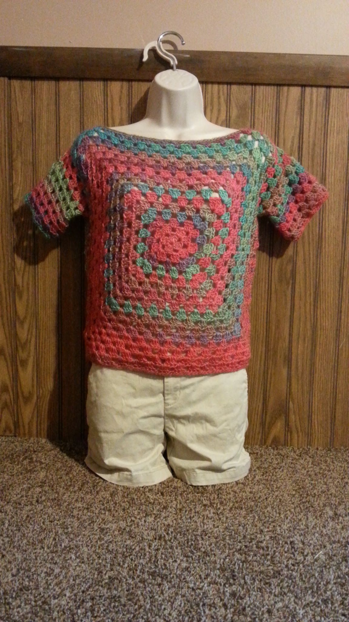 How to #Crochet Easy Granny Square Ladies Top Shirt Blouse #TUTORIAL ...