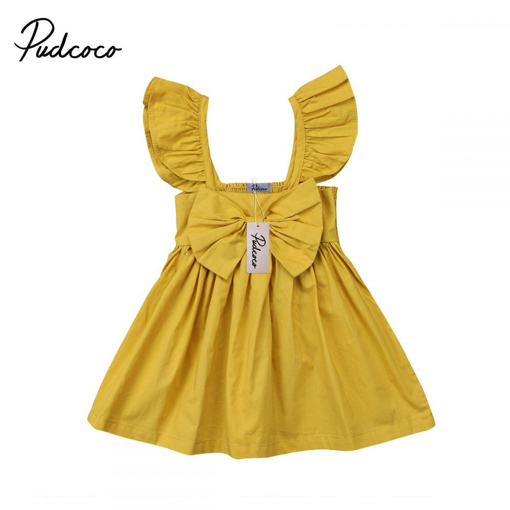 Kids Baby Girls Bow Dress Clothes Outfit 0 3t Baby Girl Dresses Girl Outfits Girls Dresses Summer [ 1000 x 1000 Pixel ]
